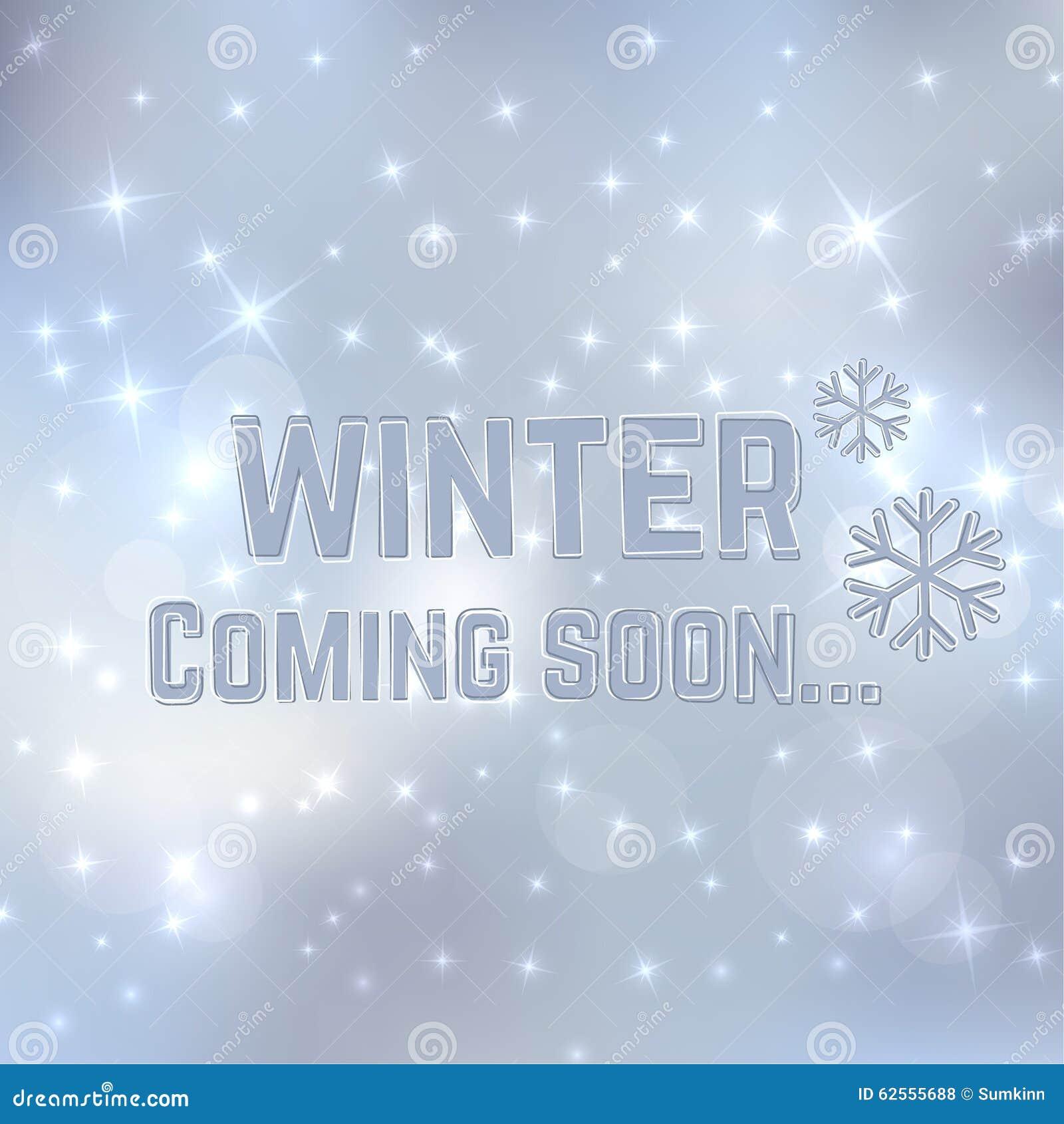 Winter Coming Soon Stock Vector Illustration Of Advertising 62555688