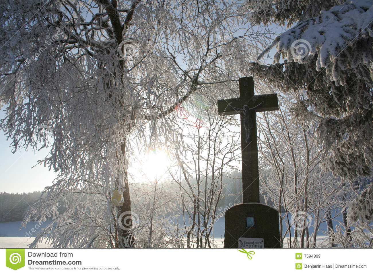 Winter Cross Stock Image Image Of Holy Cross Gospel