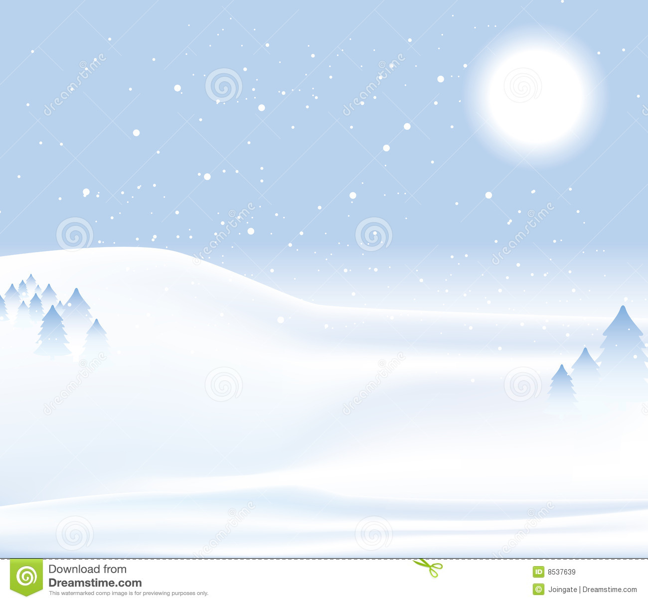 winter day snow background stock vector  image of graphic