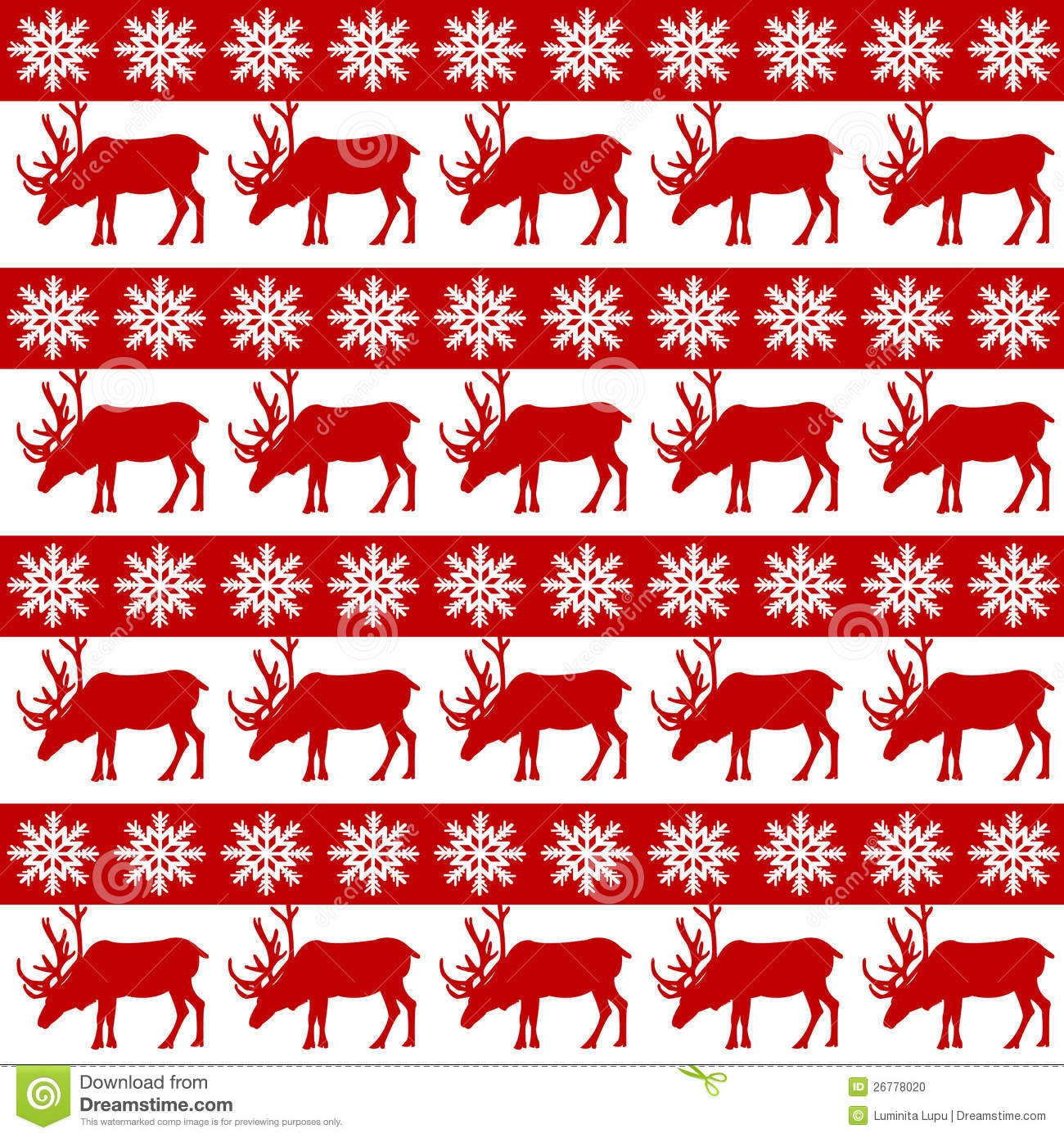 winter design with reindeer and snowflakes stock vector