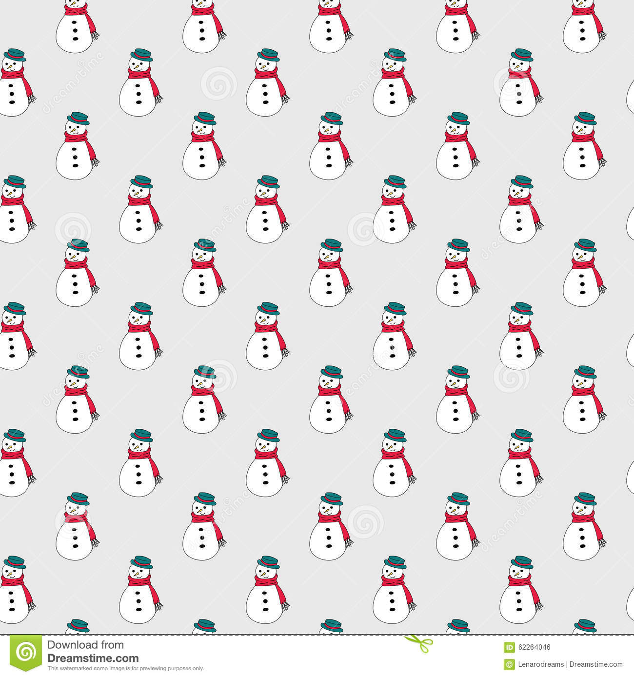 Cute Simple Snowman For Postcard And Poster Graphic Design Textile Wrapping Paper Hand Drawn Style Christmas Winter Backgrounds