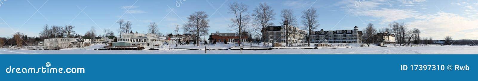 Winter-Dorf-Panorama