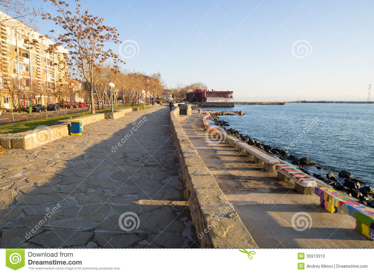 Pomorie Bulgaria  city pictures gallery : Winter Embankment In Pomorie, Bulgaria Editorial Stock Photo Image ...