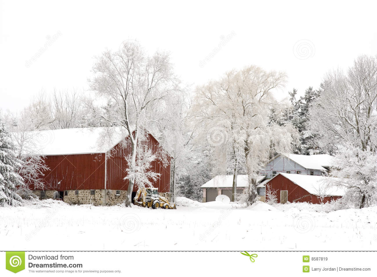 Winter The Farm Royalty Free Stock Image