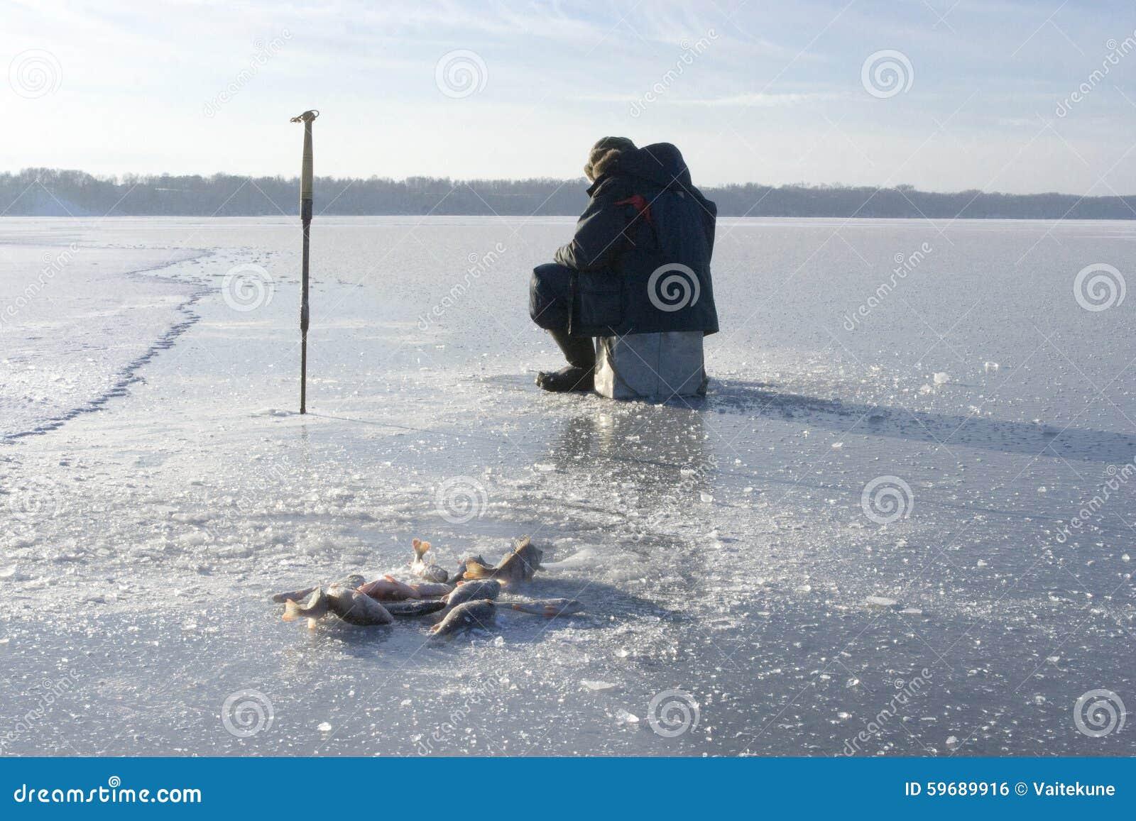 Winter fishing stock photo image 59689916 for Frozen fishing pole