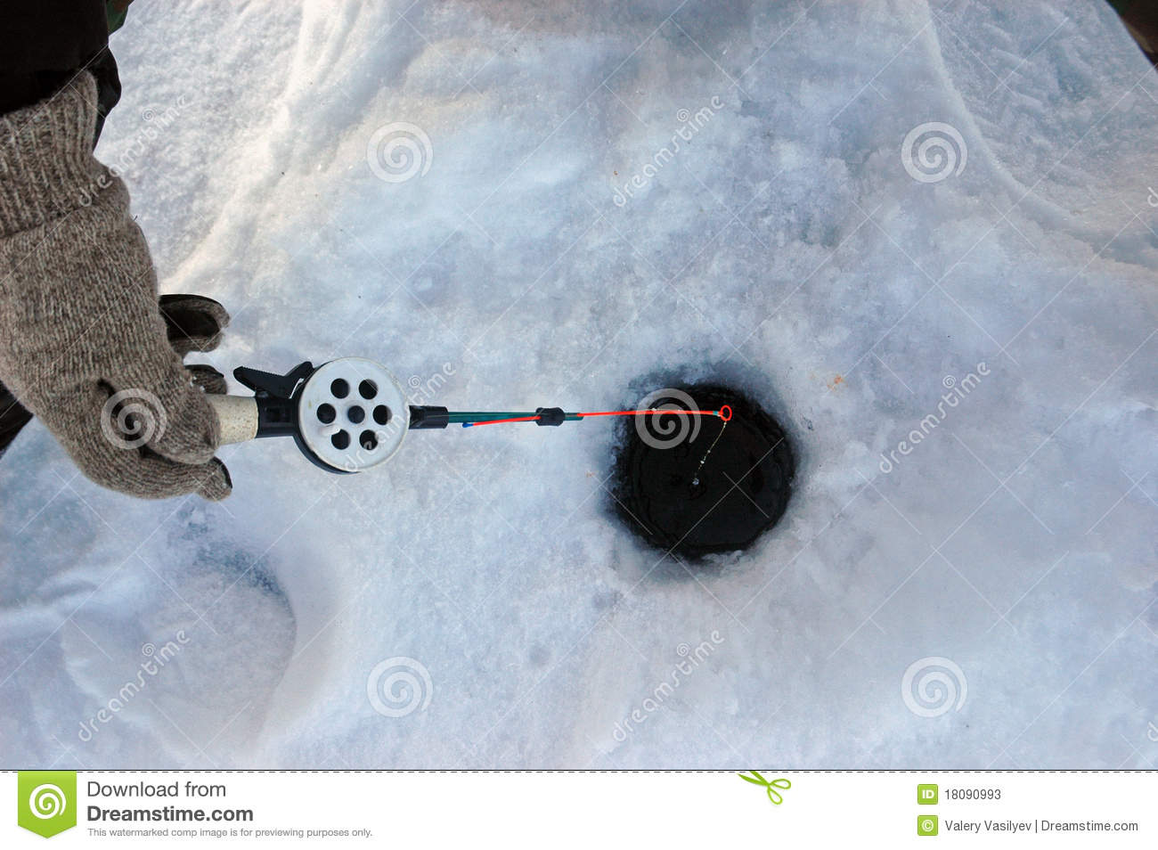 Winter fishing tackle stock photos image 18090993 for Winter fishing gear