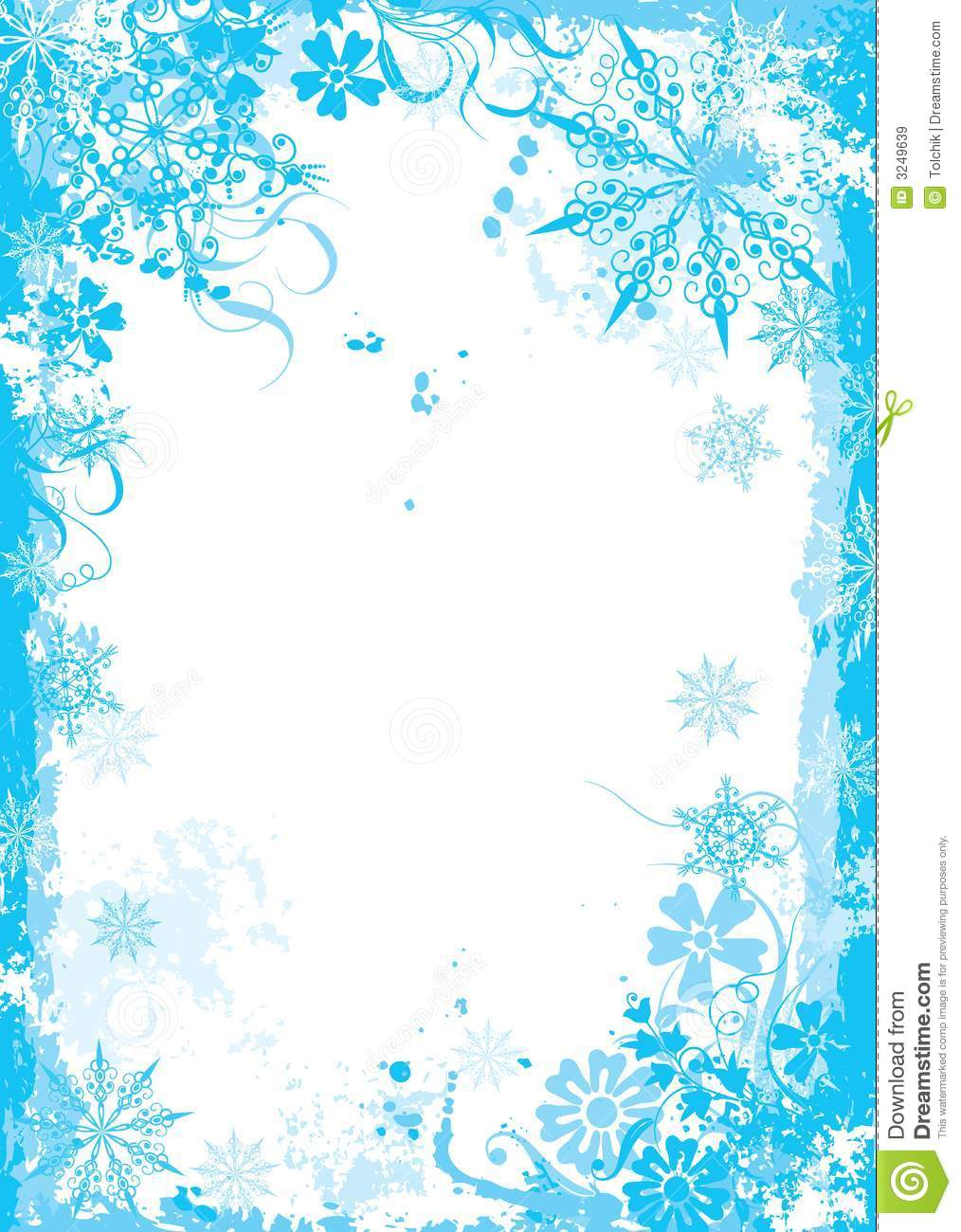 winter floral frame vector