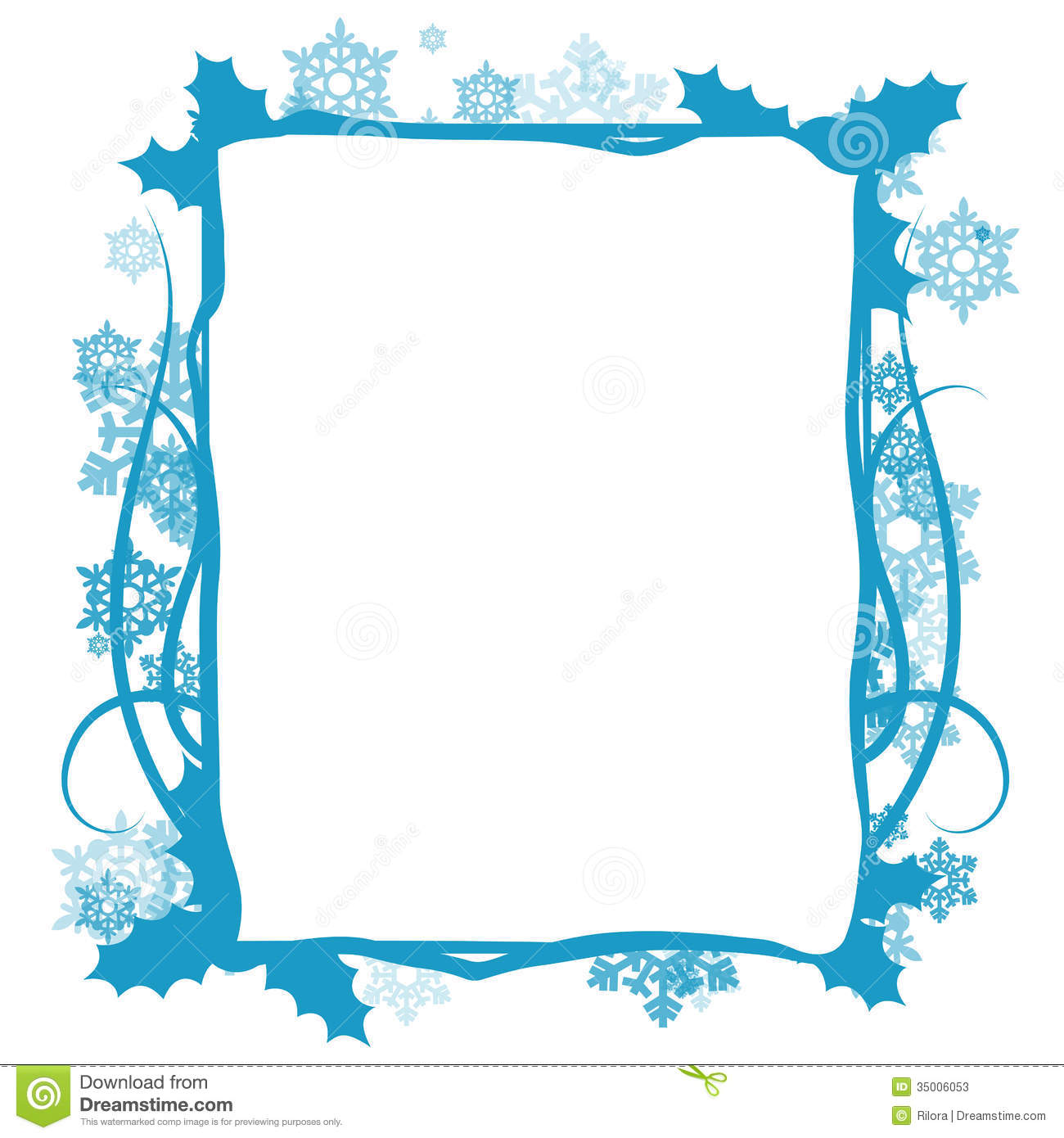 winter floral frame vector stock photos image 35006053
