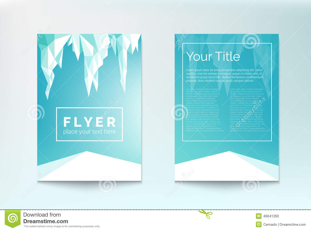 Winter Flyer Stock Vector Image 46641260