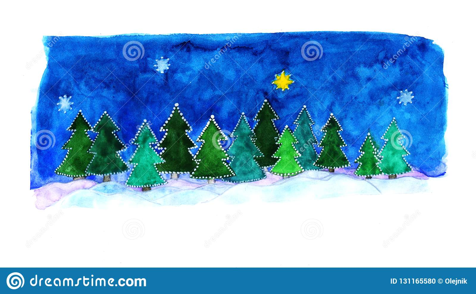 Winter forest for Christmas
