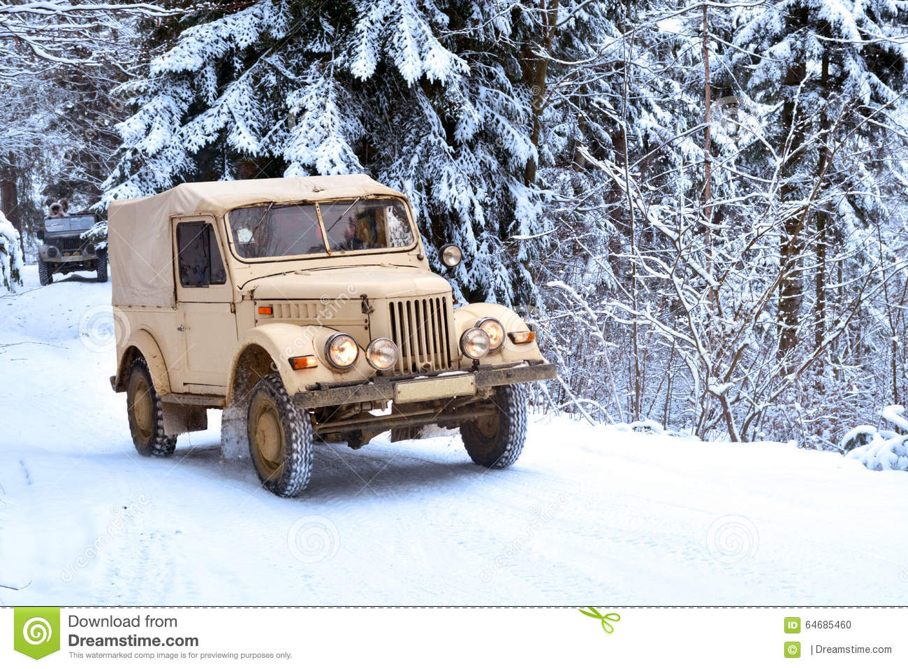Download Winter Forest Offroad Journey Stock Photo - Image of evergreens, outdoors: 64685460