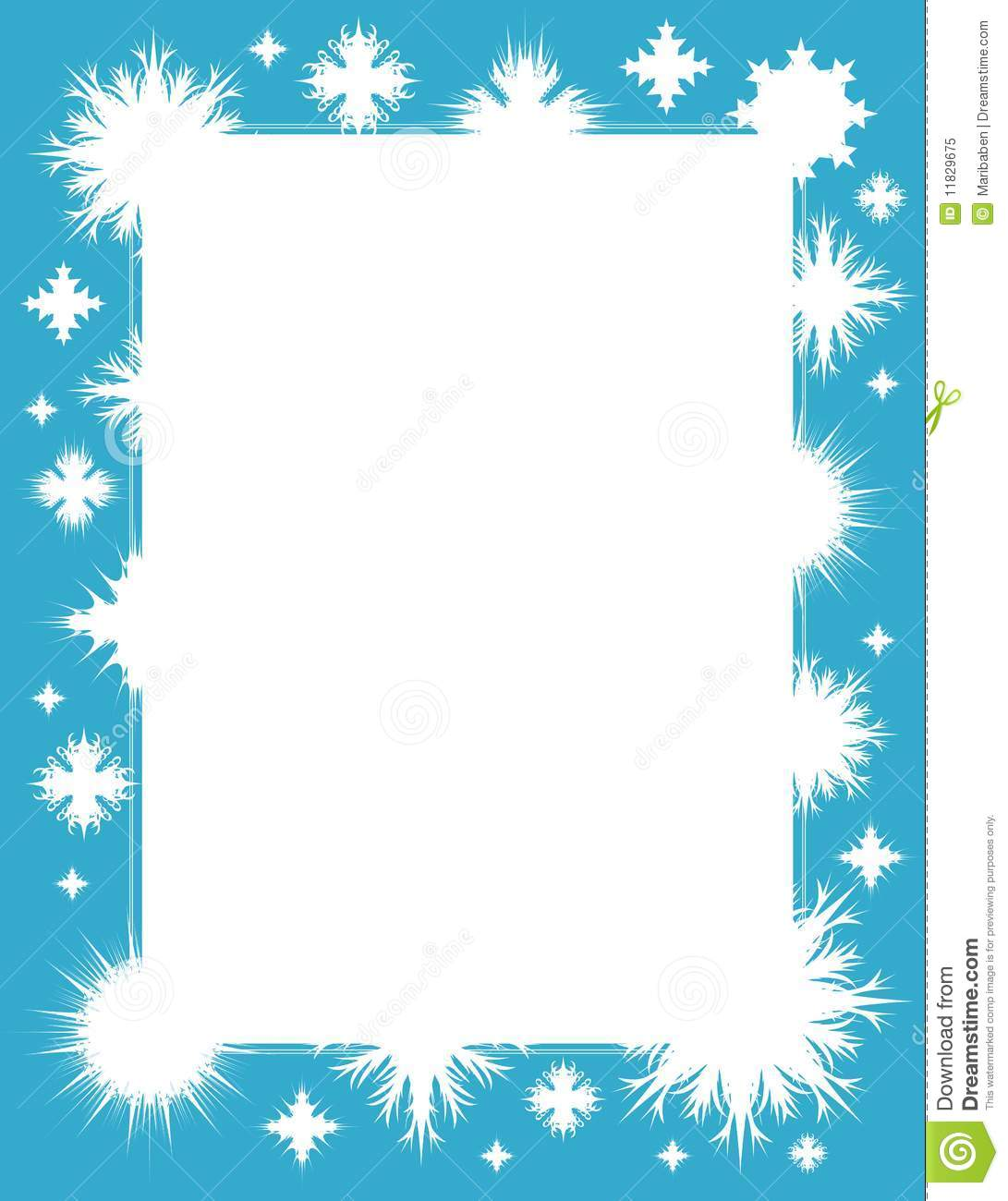Winter Frame With Snowflakes Royalty Free Stock Photo Image 11829675