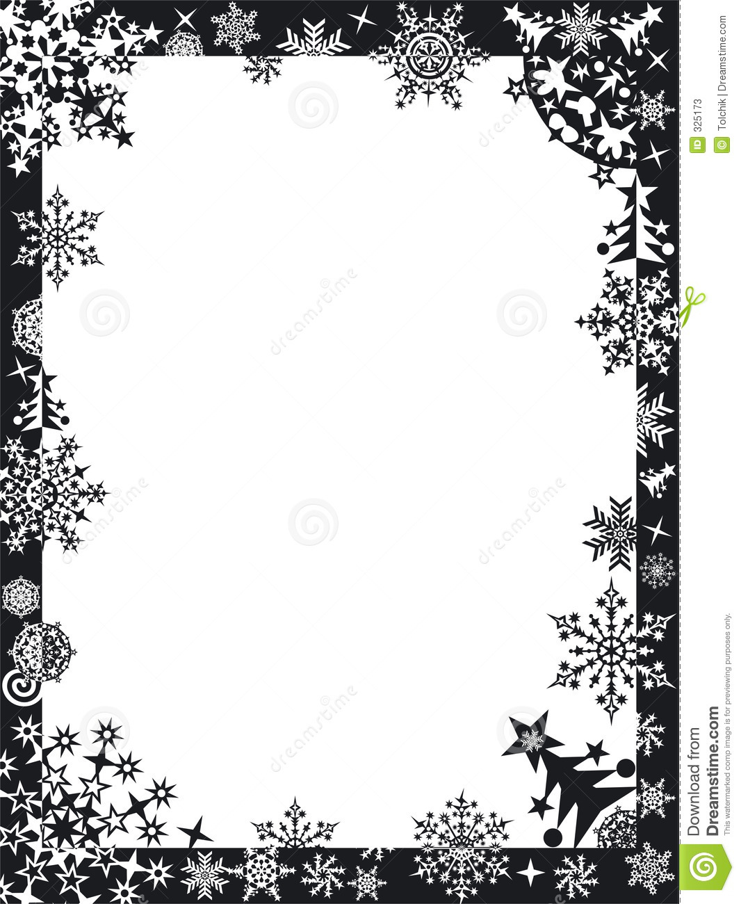 Winter Frame With Snowflakes Stock Illustration