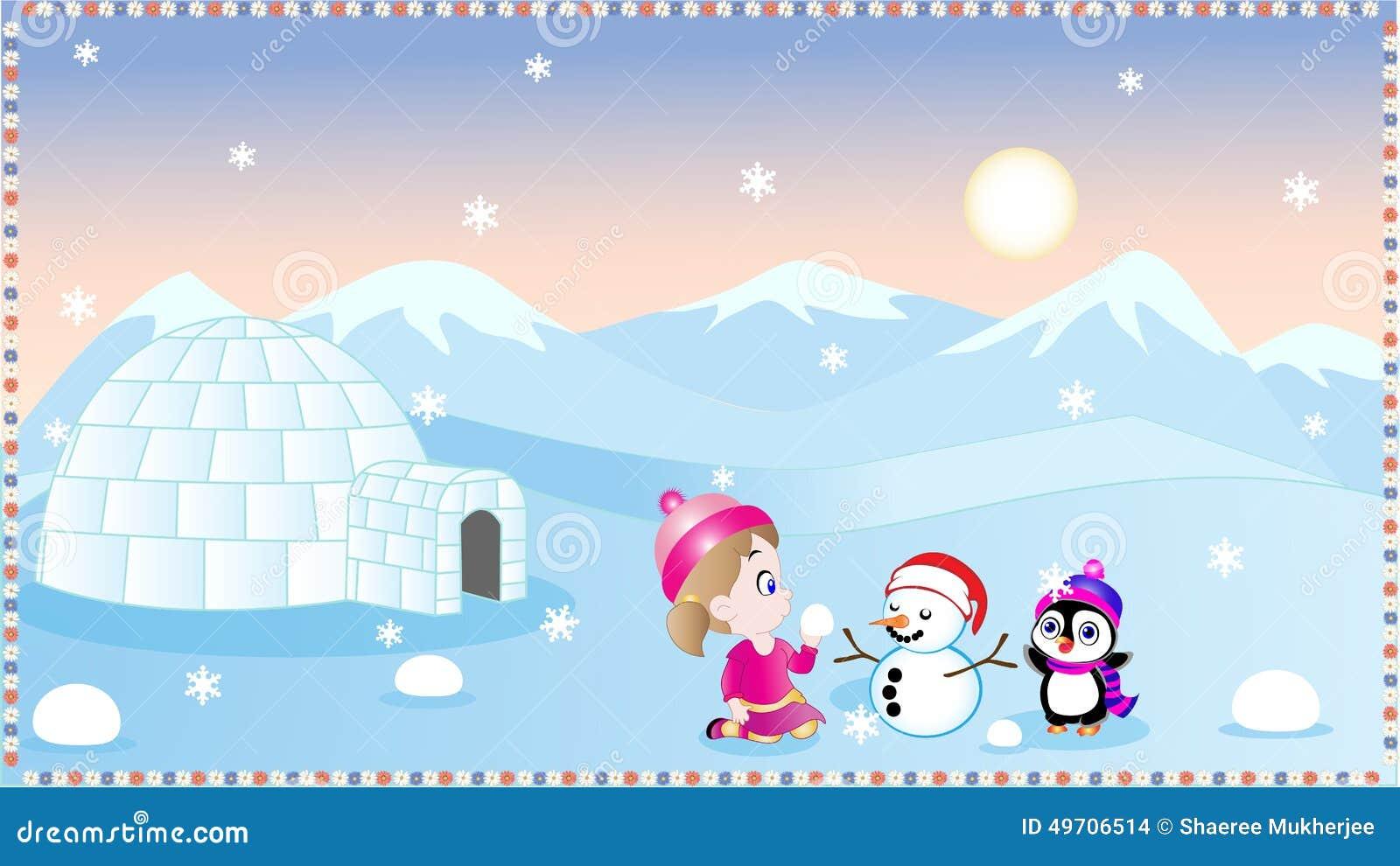 Winter Fun Stock Vector Illustration Of Baby Penguin