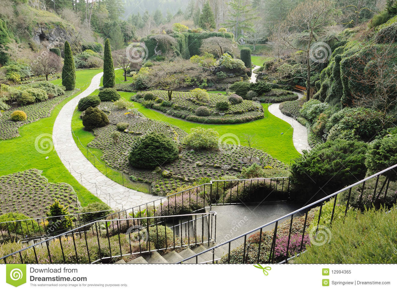 Winter garden royalty free stock photo image 12994365 for Gardening tools victoria bc