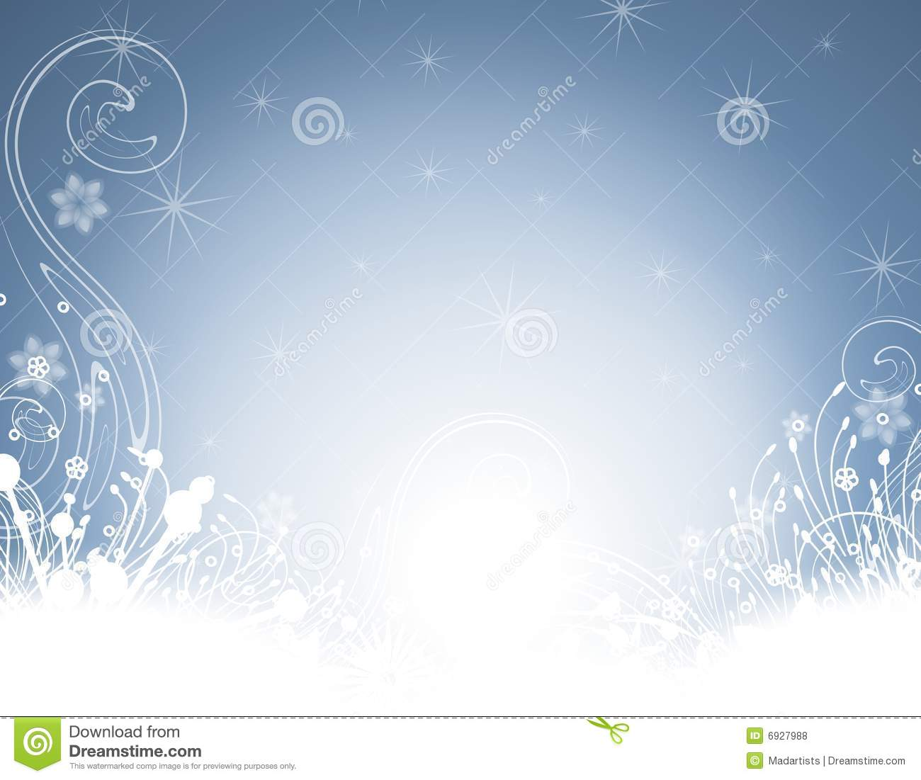 new year or christmas winter garden party background flat design