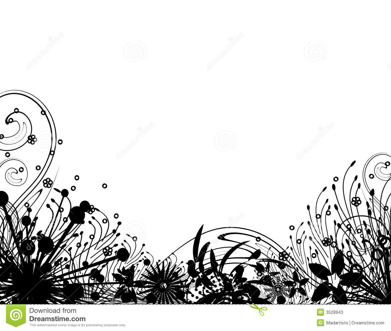 Flower Garden Clipart Black And White Images Pictures