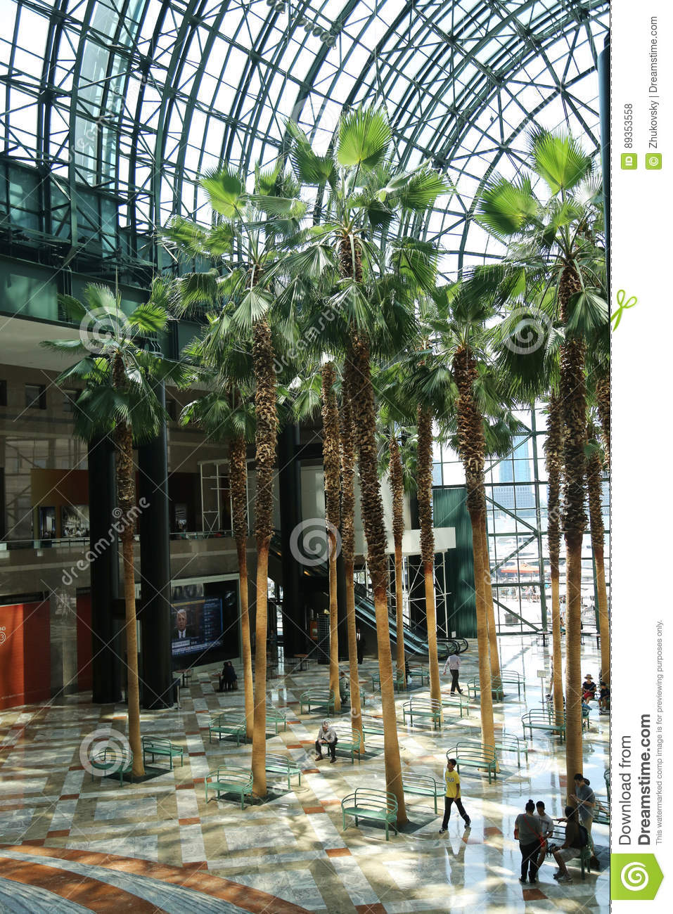 Winter Garden in World Financial Center located in Lower Manhattan