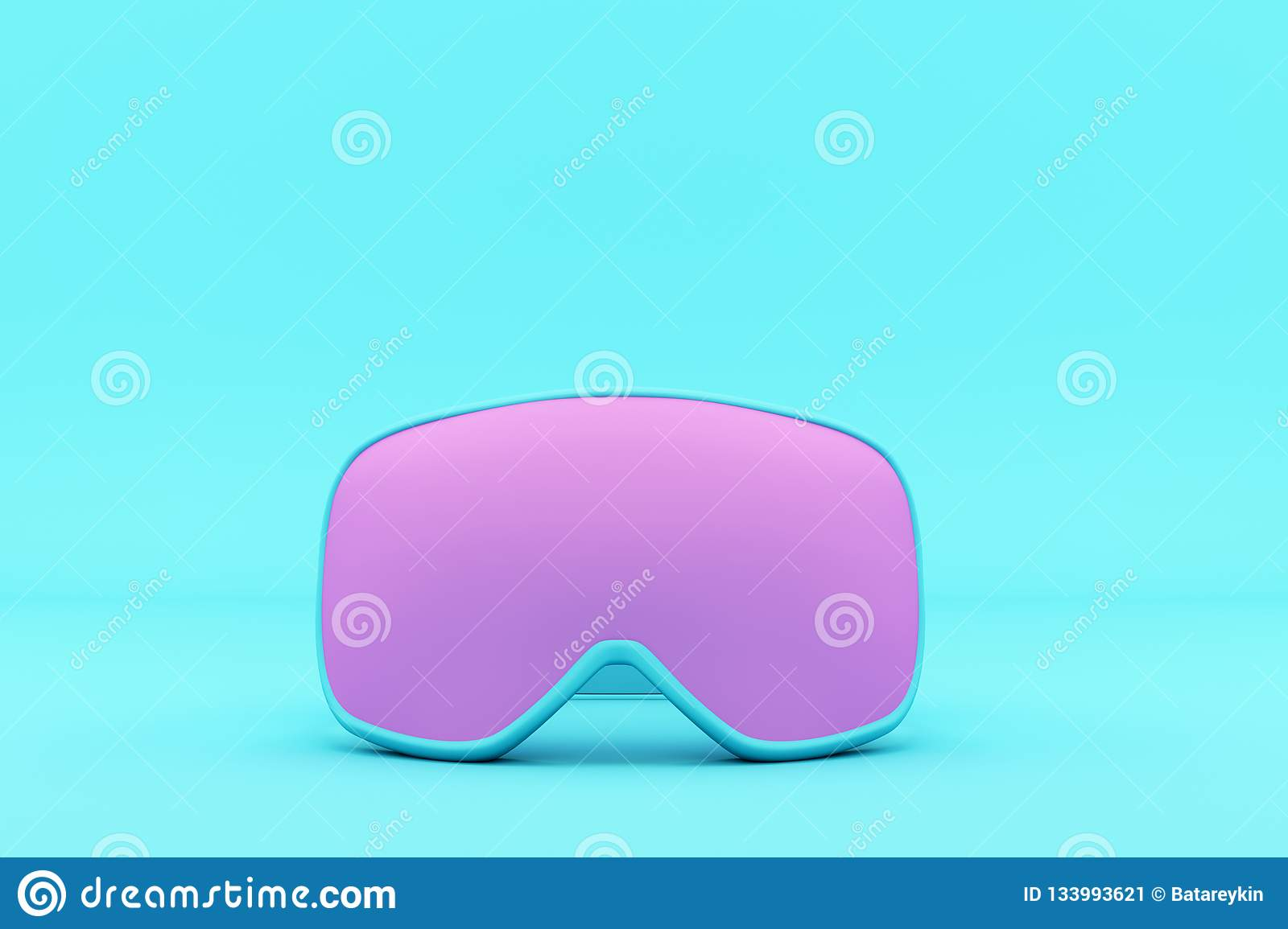f96c983d8ae9 Winter Goggles Two Tone Color. Stock Illustration - Illustration of ...