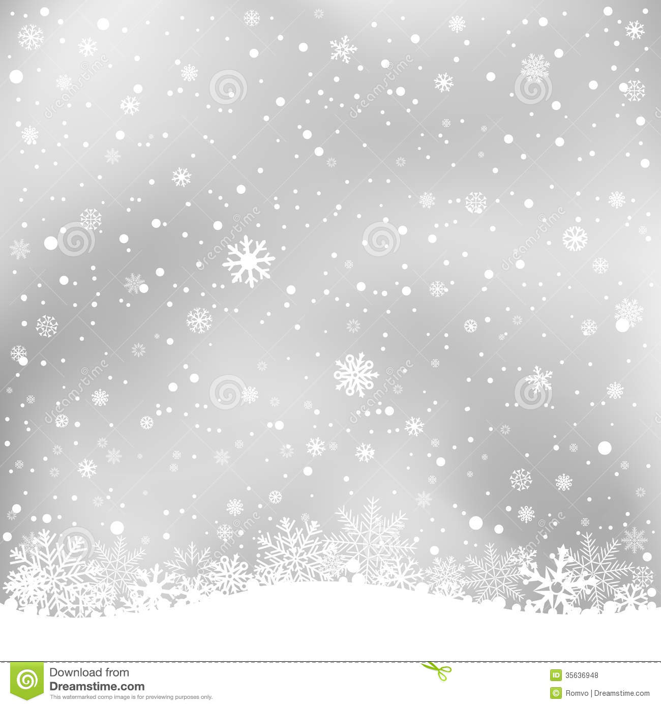 Winter gray background stock vector. Illustration of many - 35636948 for Snow Background Clipart Black And White  117dqh