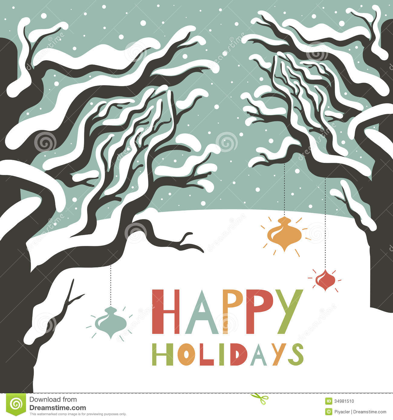 Winter happy holidays greeting card stock vector illustration of winter happy holidays greeting card kristyandbryce Images
