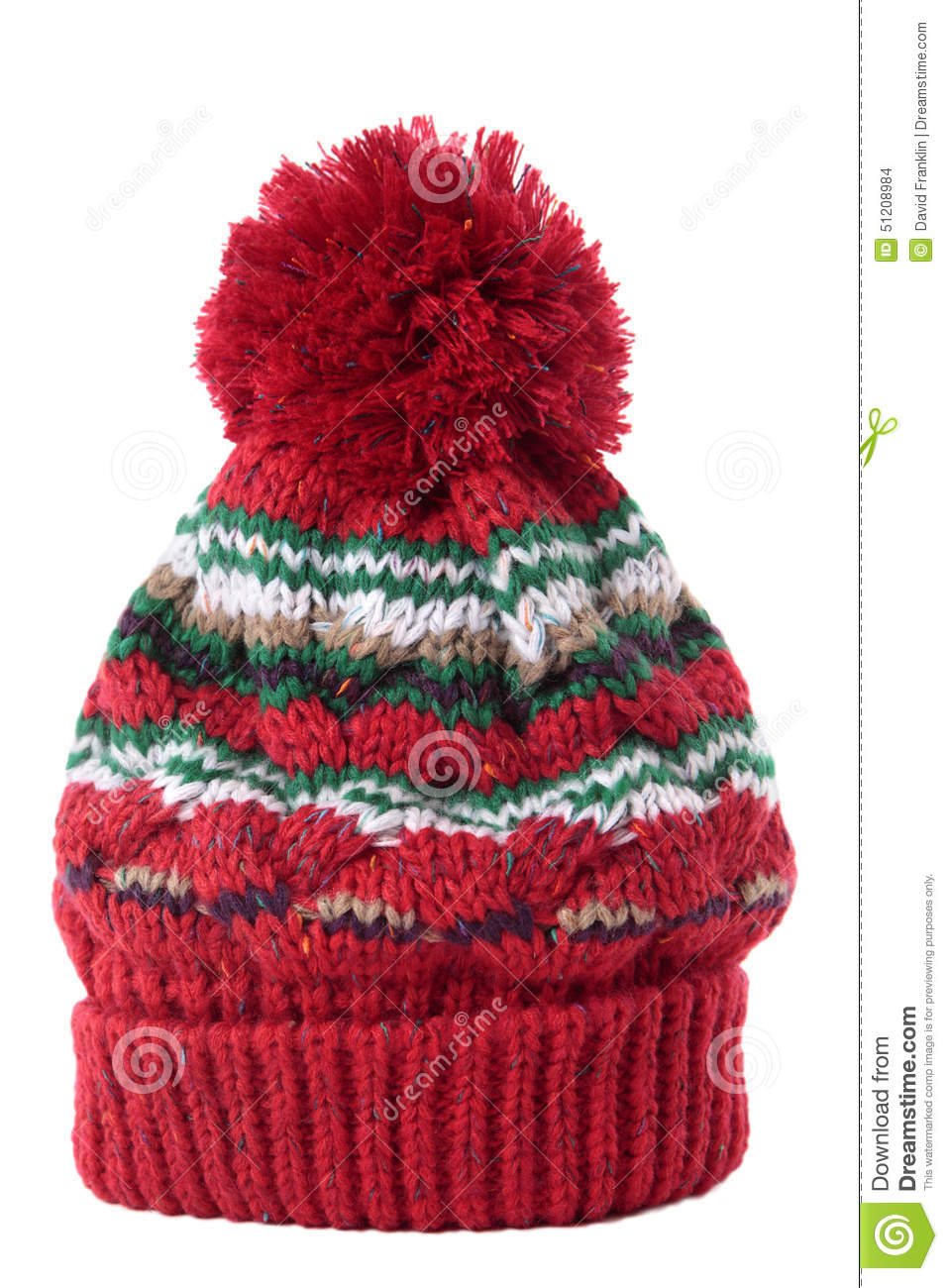 77d3dbc66fd Bobble hat isolated against a white background.