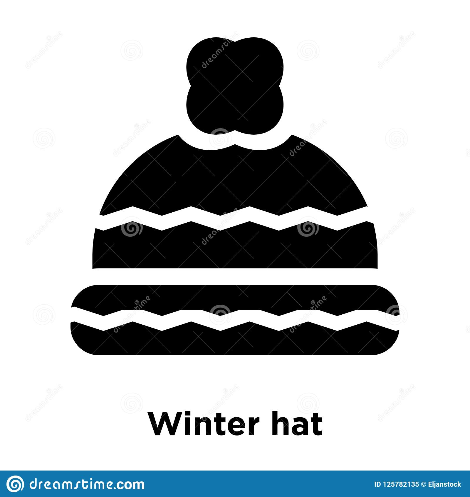 d5b9b052cab Winter Hat Icon Vector Isolated On White Background