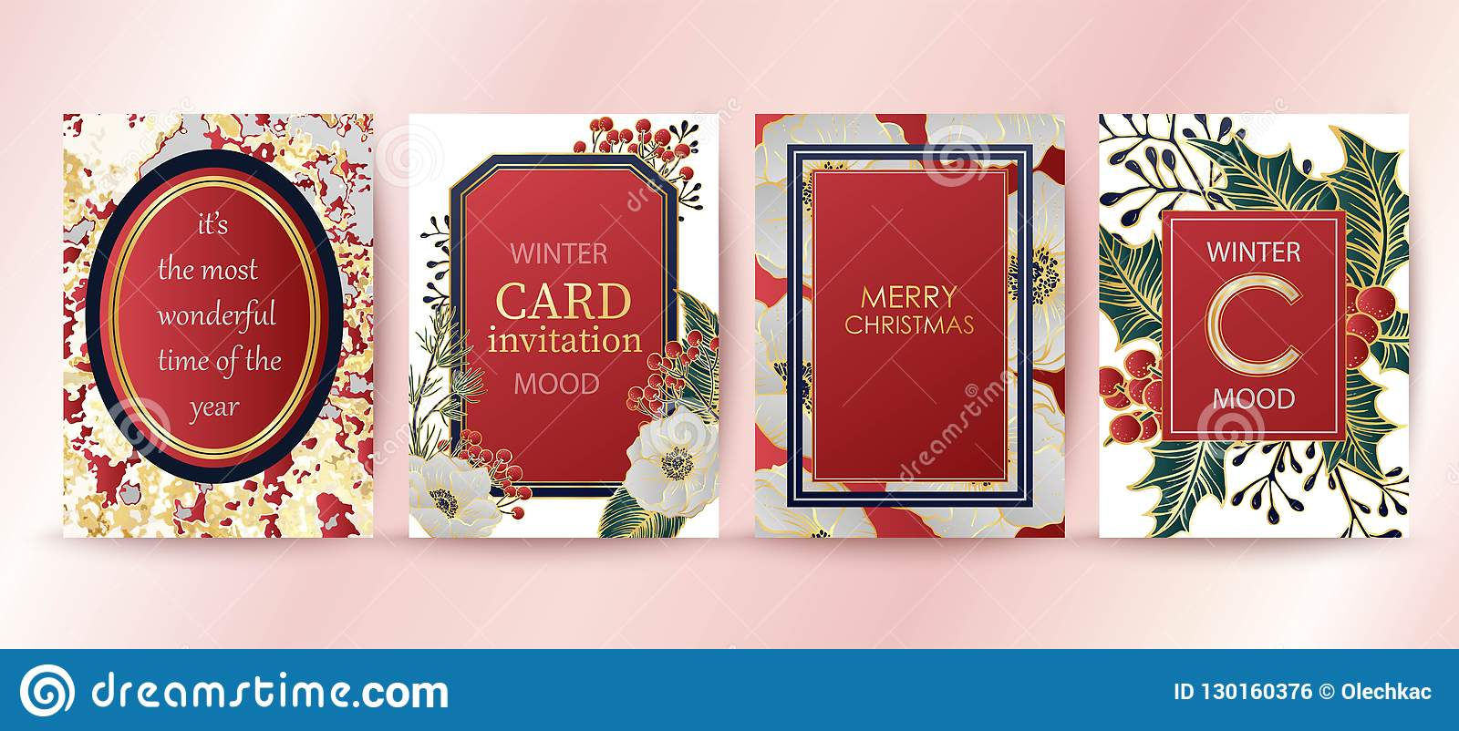 winter holiday background invitation wedding pattern design merry christmas and happy new year