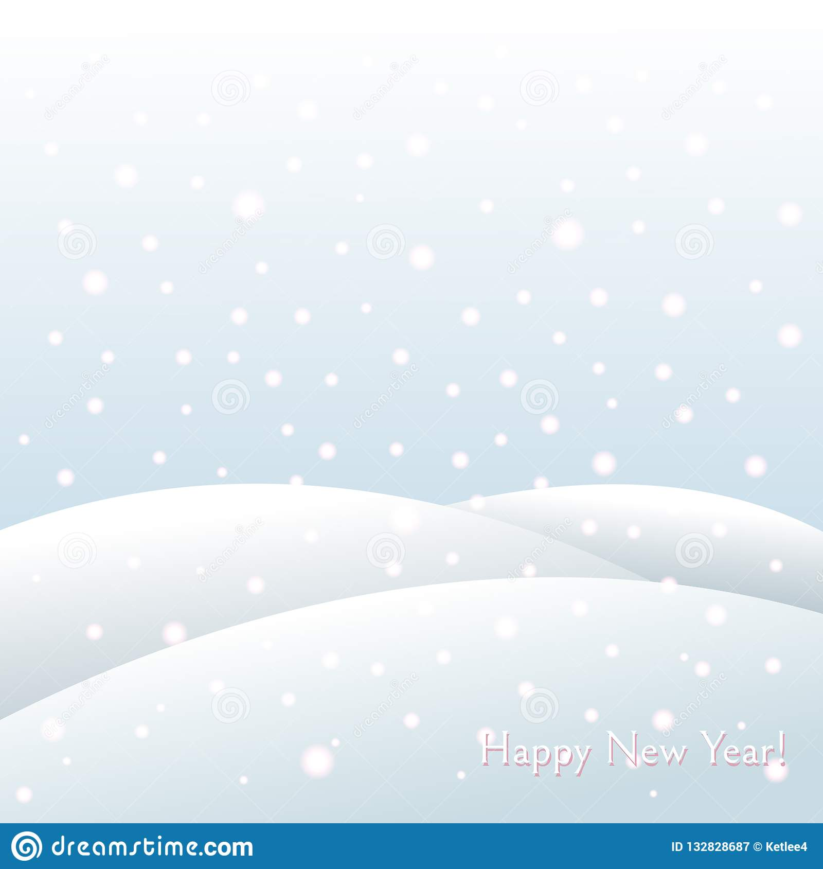 Winter holiday background on New Year and Christmas Snowdrifts, falling snowflakes Winter frosty landscape