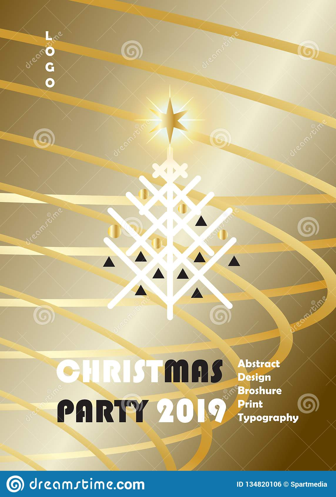 2019 Winter Holiday Happy New Year Christmas Event Luxury ...
