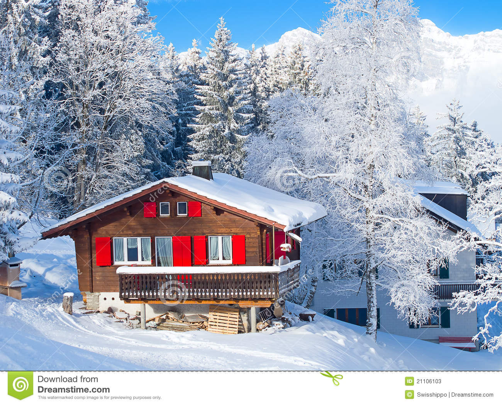 Winter Holiday House Stock Photos Image 21106103