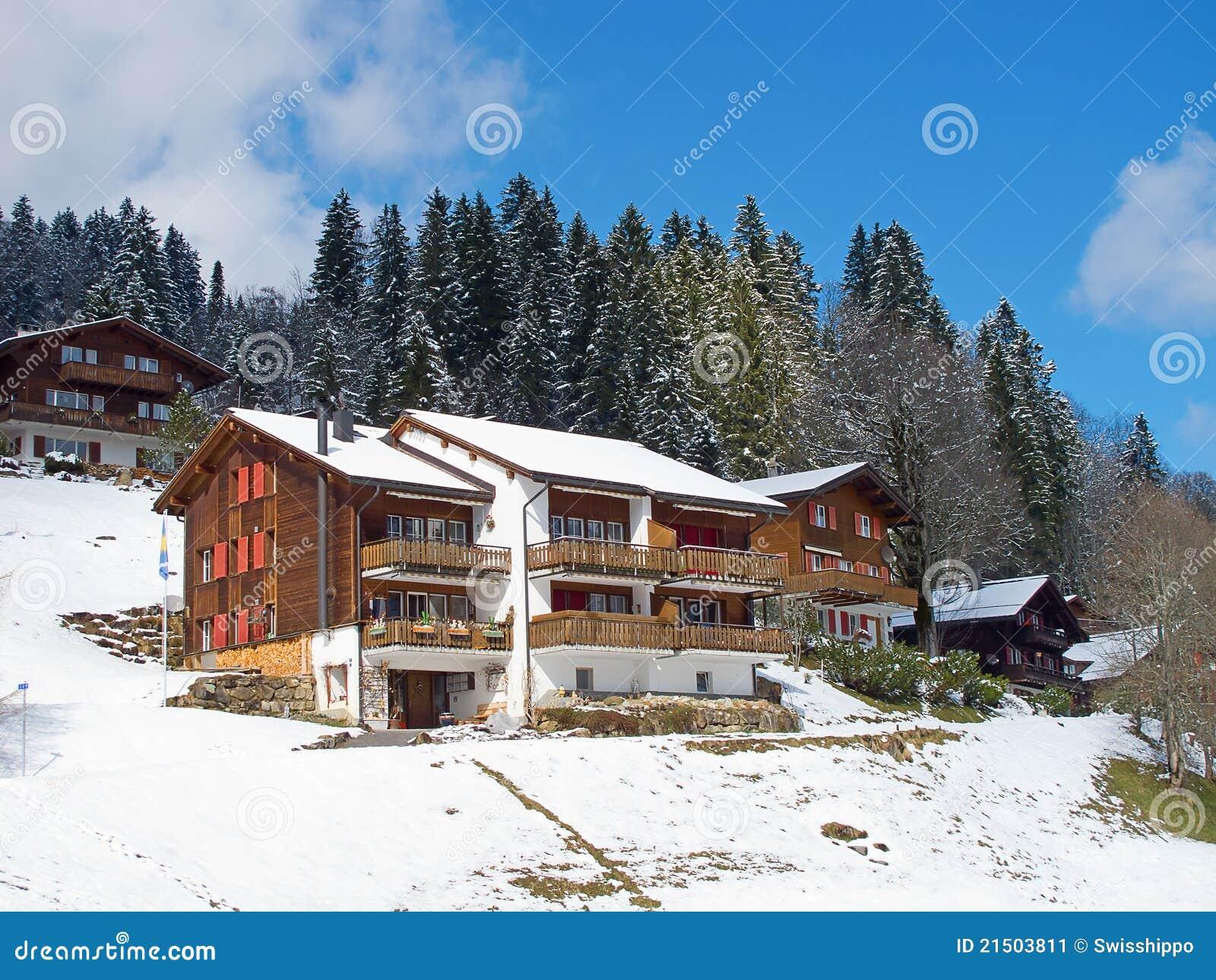 Winter Holiday House Stock Image Image 21503811
