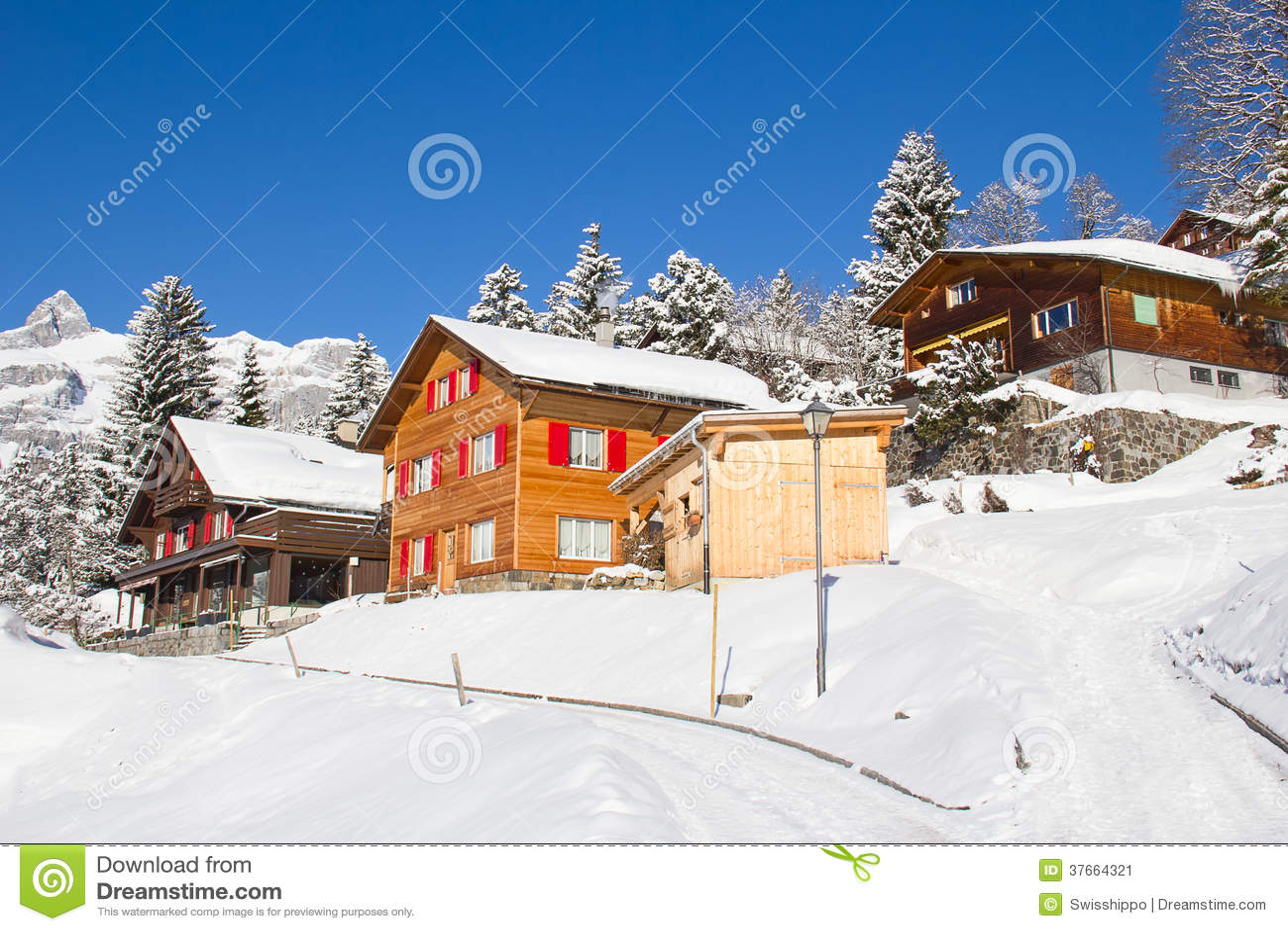 Winter Holiday House Stock Image Image 37664321