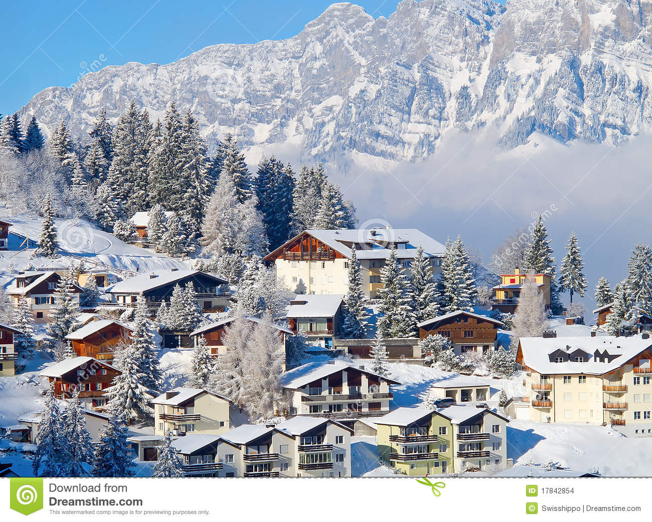 Winter Holiday Houses Stock Images Image 17842854