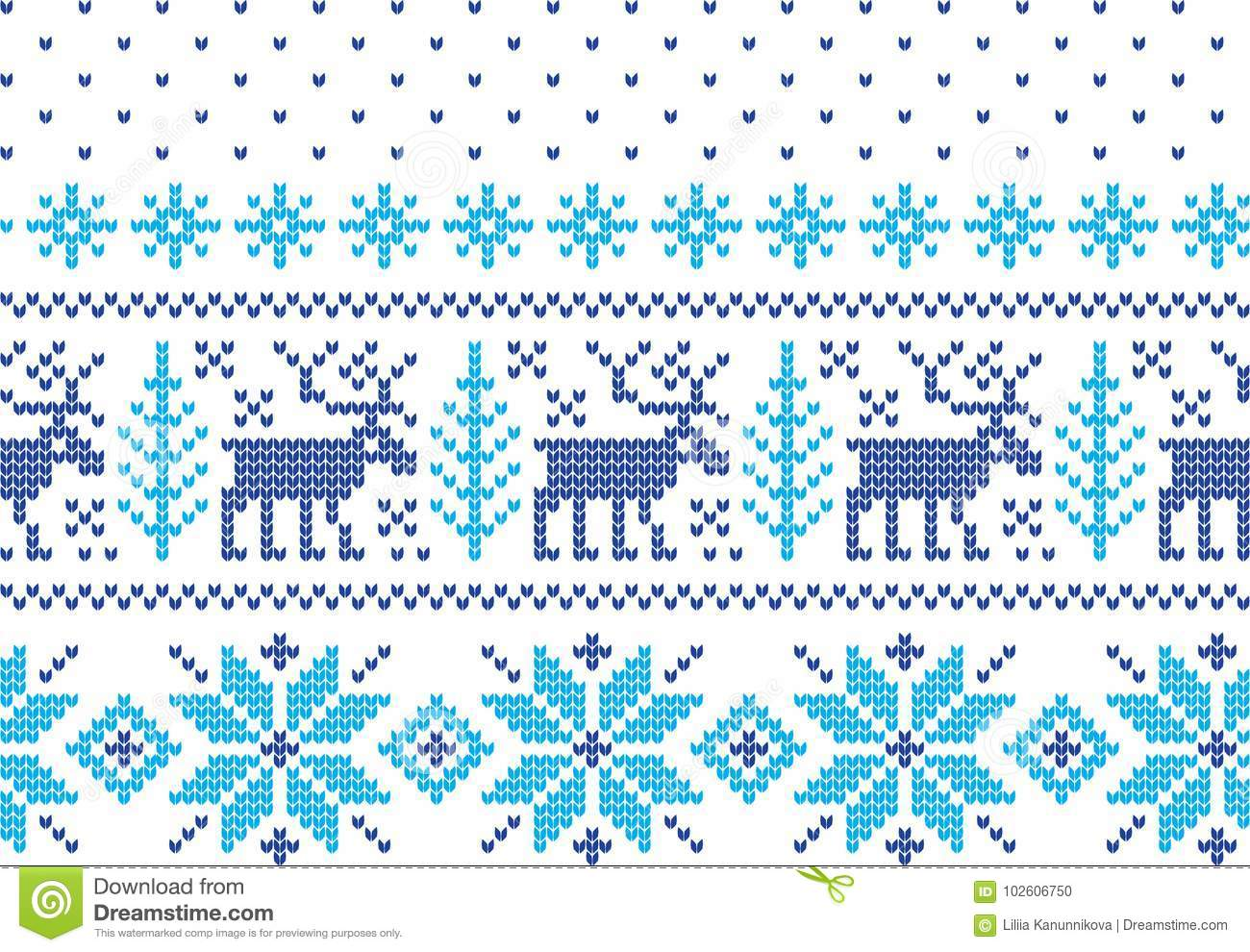 7d3c71d2b3973 Winter Holiday Seamless Knitting Pattern with a Christmas Trees. Christmas Knitting  Sweater Design. Wool Knitted Texture
