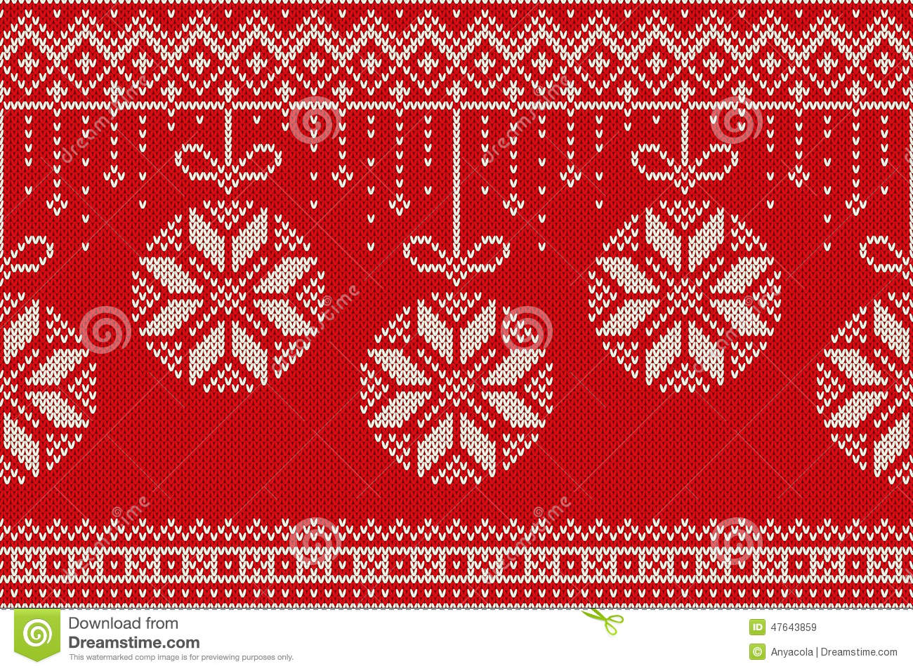 Winter Holiday Seamless Knitting Pattern. Christmas And New Year ...