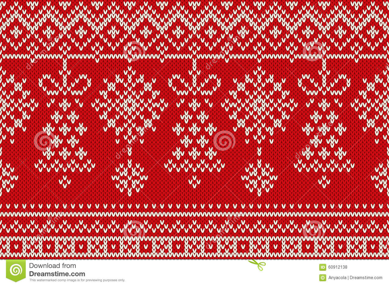 New Knitting Patterns 2017 : Winter Holiday Seamless Knitting Pattern. Christmas And New Year Backround St...
