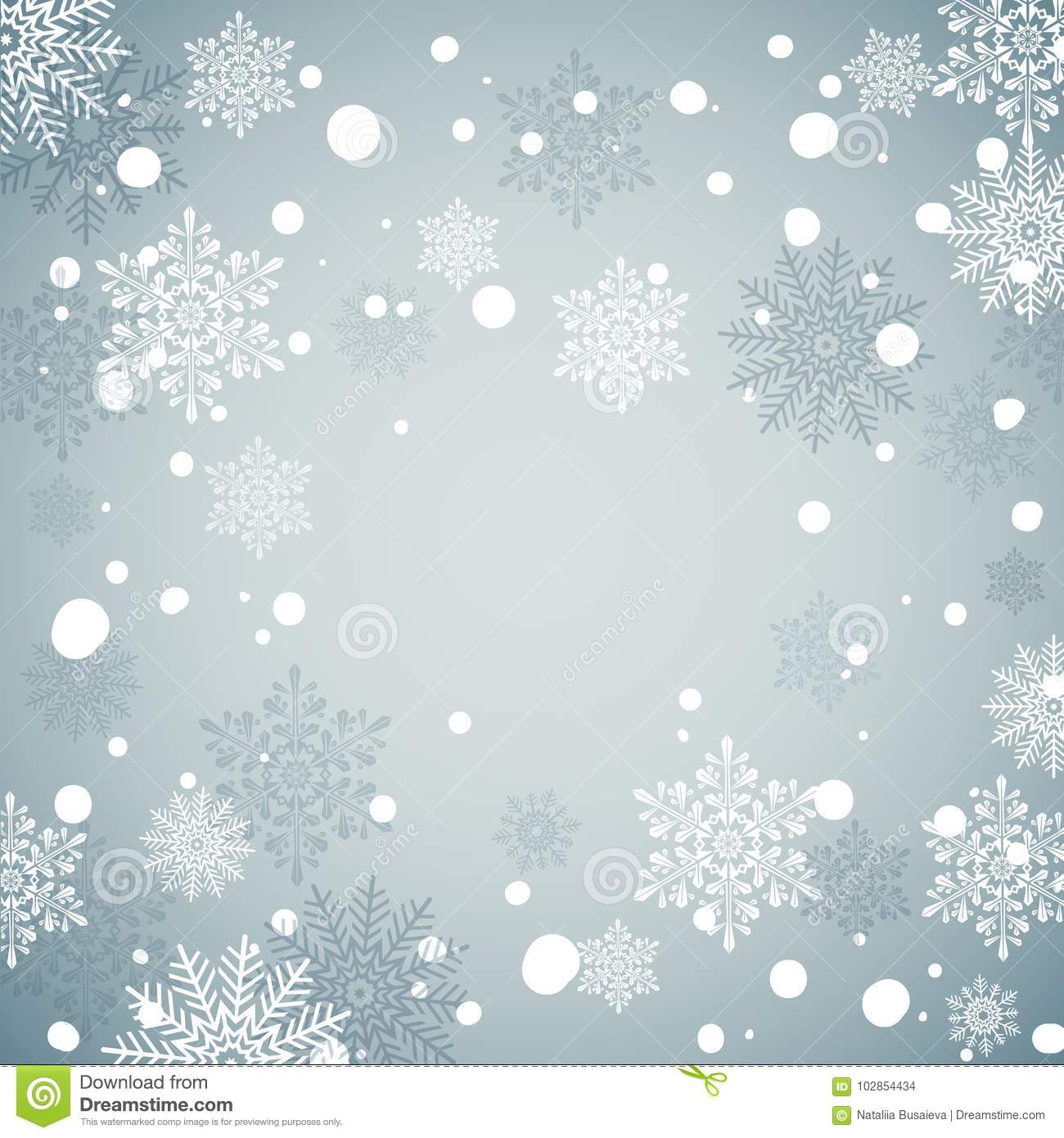 winter holiday snow background blue christmas backdrop new year