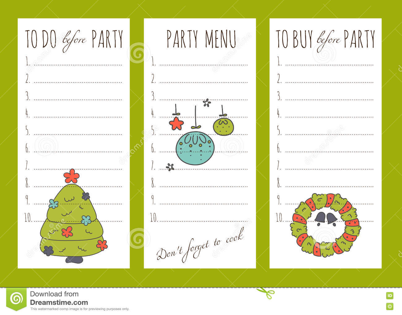 winter holiday to do list plan print