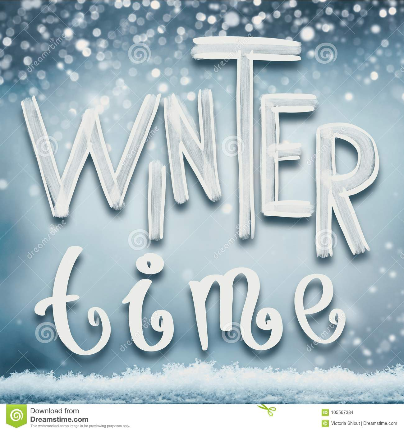 Winter holidays card with winter time lettering stock photo image winter holidays card with winter time lettering m4hsunfo