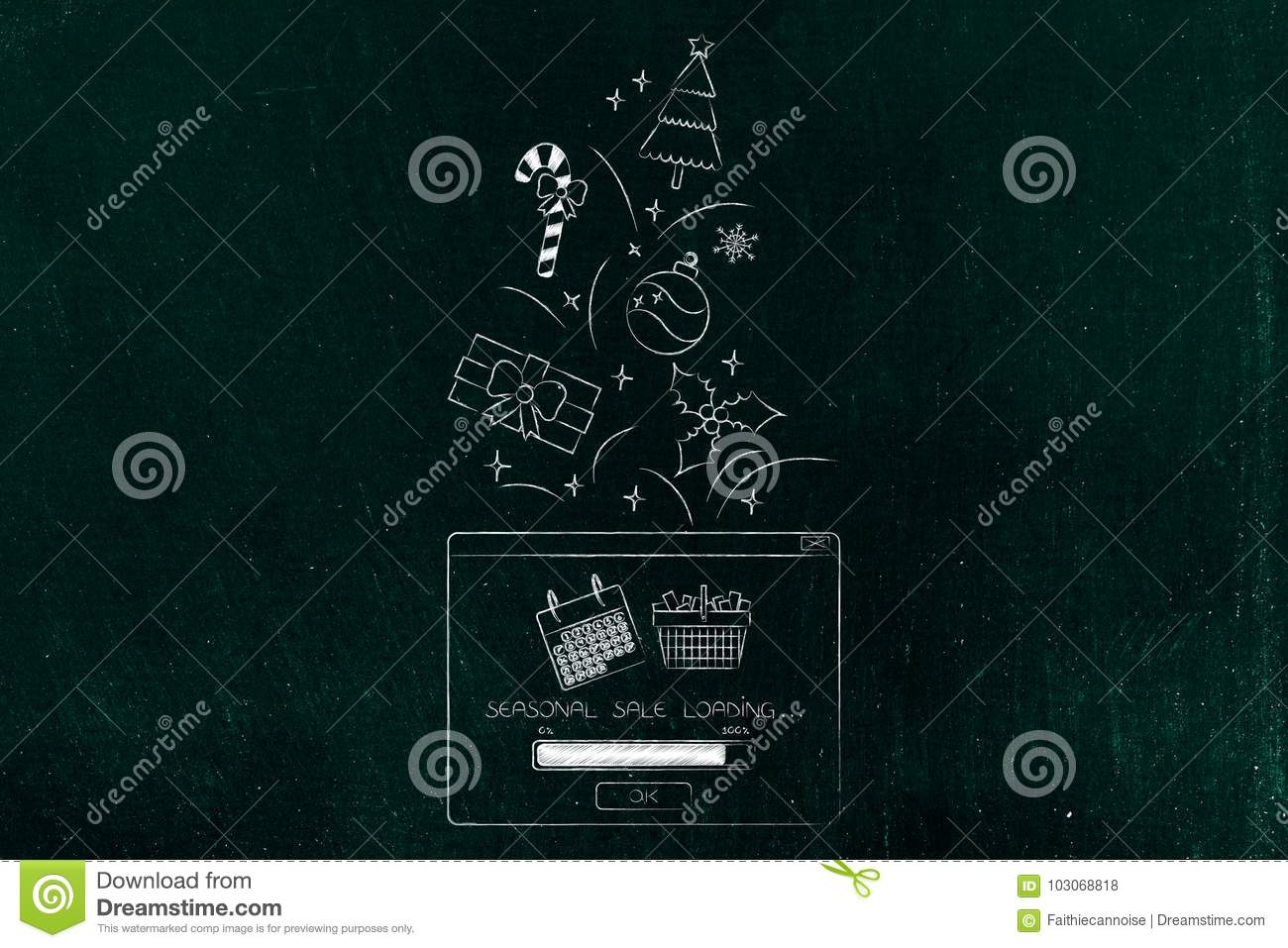 Seasonal Sales Pop-up Message With Christmas Gifts And Decoratio ...