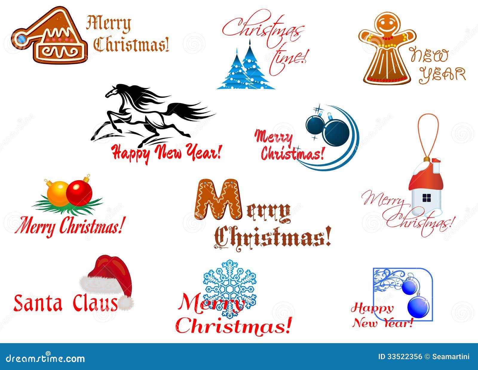 Winter Holidays Symbols Stock Vector Illustration Of Present 33522356