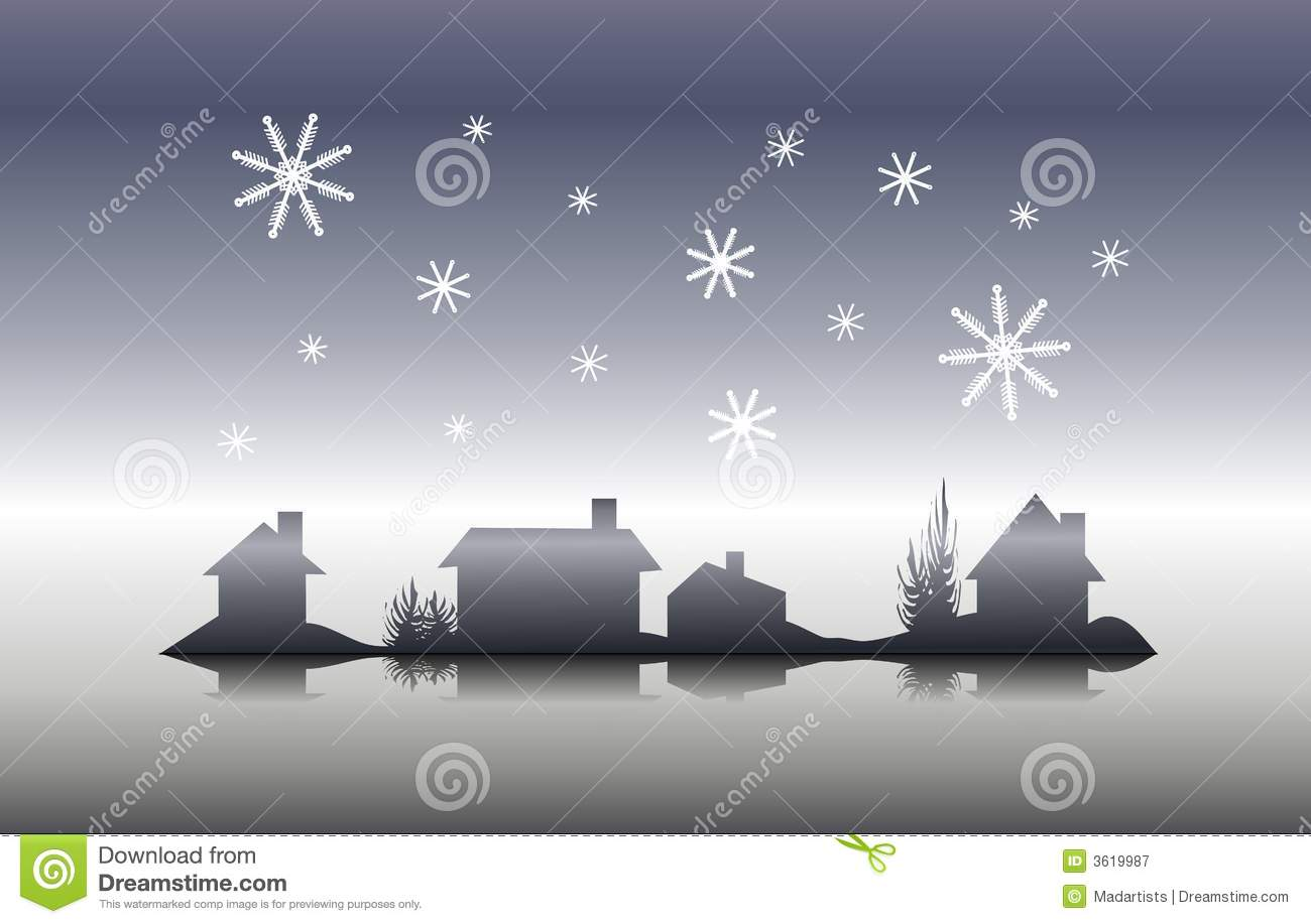 clip art illustration featuring a row of houses and trees with ...