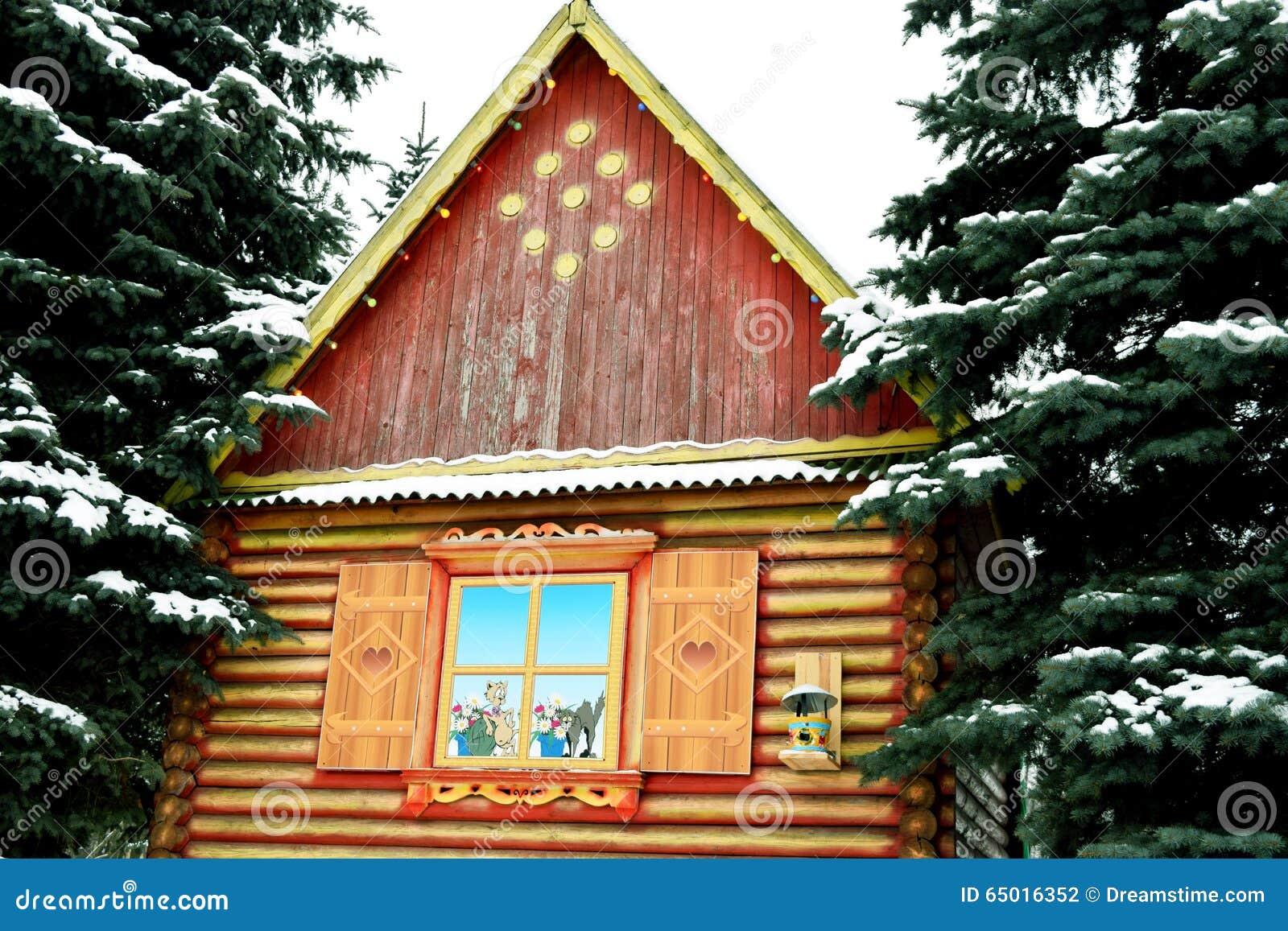 Winter Hut Stock Photo Image Of Holiday Santa Claus