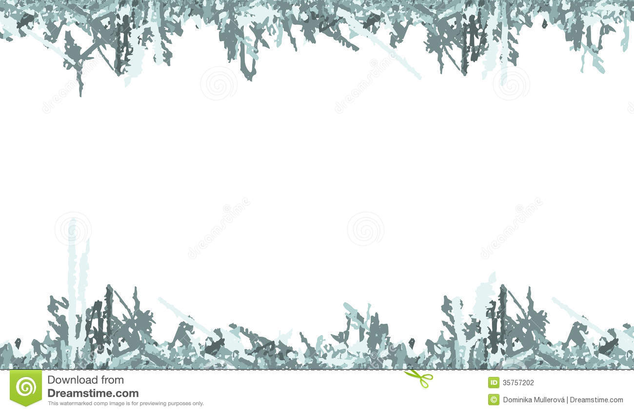 Winter Ice Ruins Frame Stock Vector Illustration Of Background