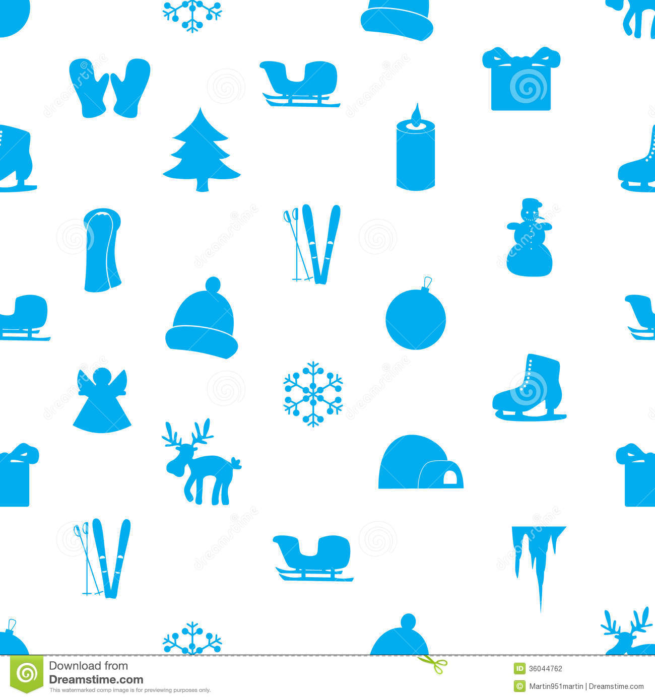 Winter Icons Pattern Eps10 Stock Photography - Image: 36044762