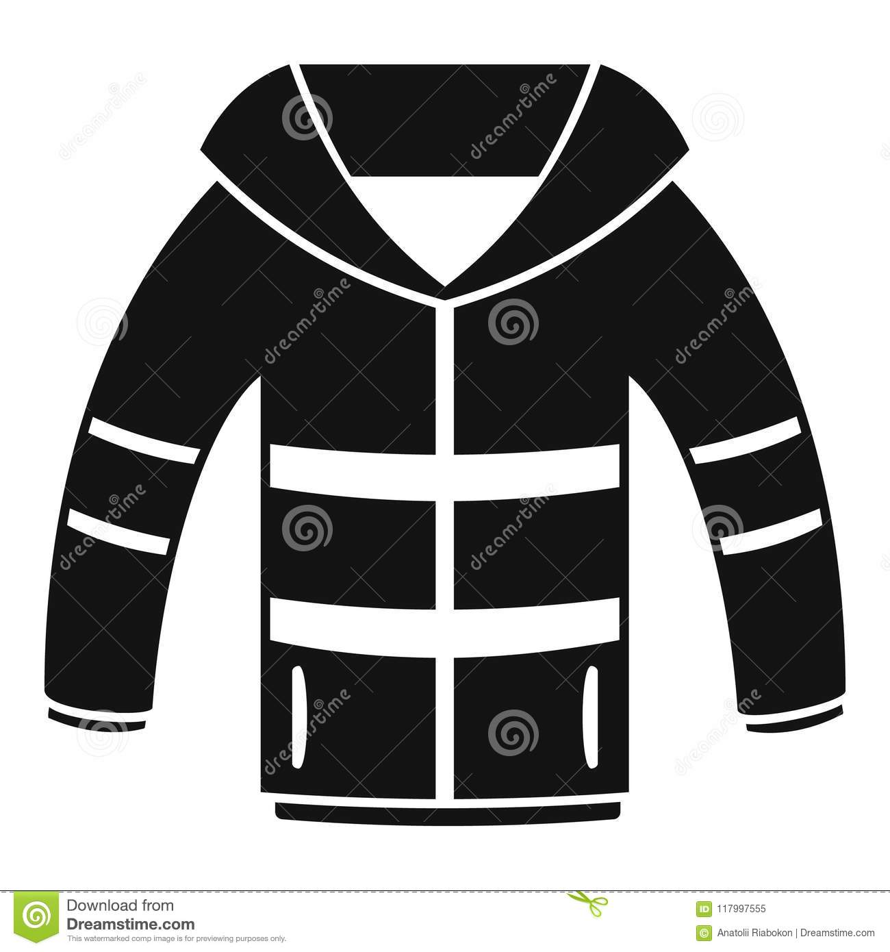085f54498fc5 Winter jacket icon. Simple illustration of winter jacket vector icon for  web design isolated on white background. More similar stock illustrations