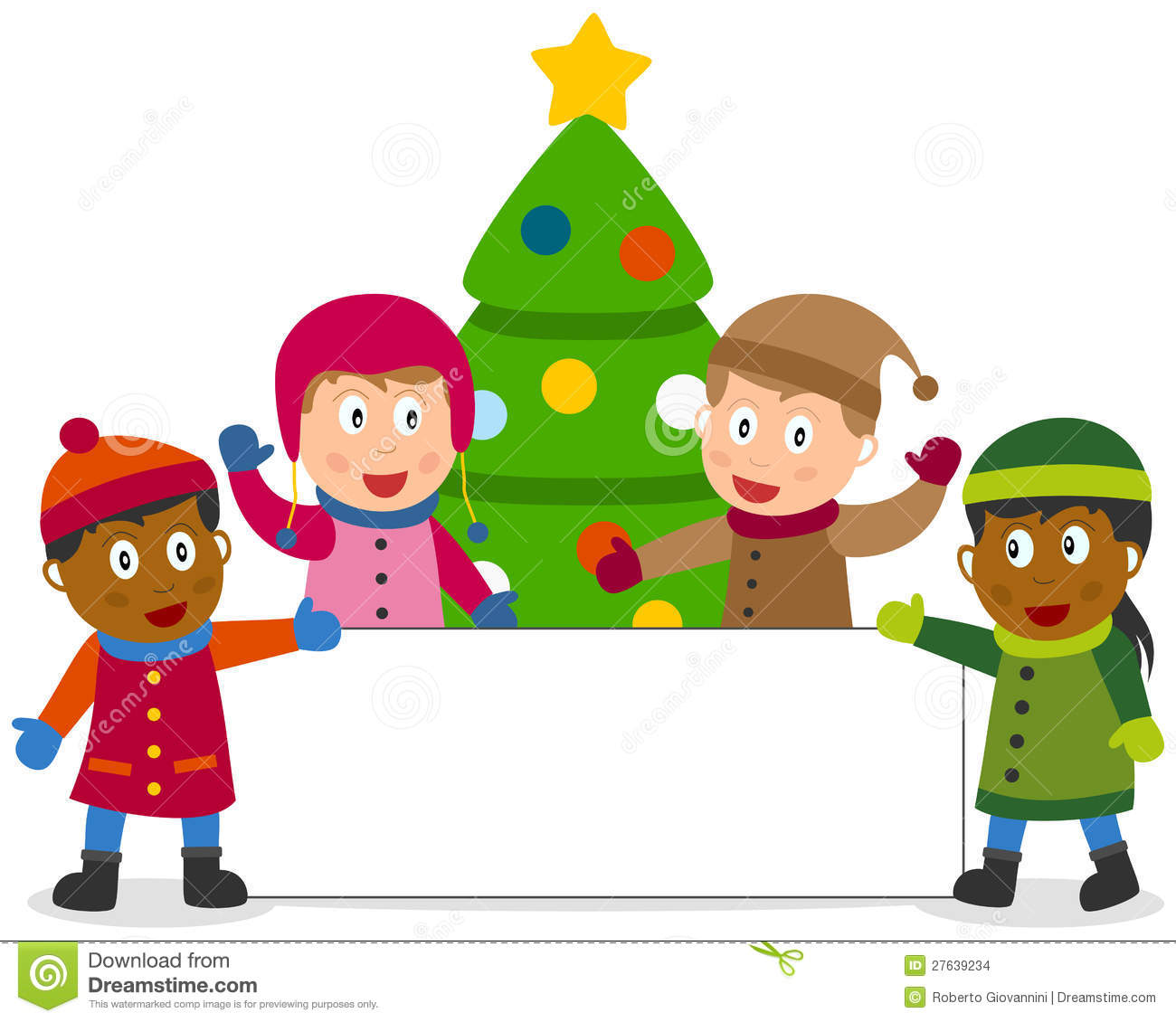 Winter Kids And Banner Stock Images - 110.4KB