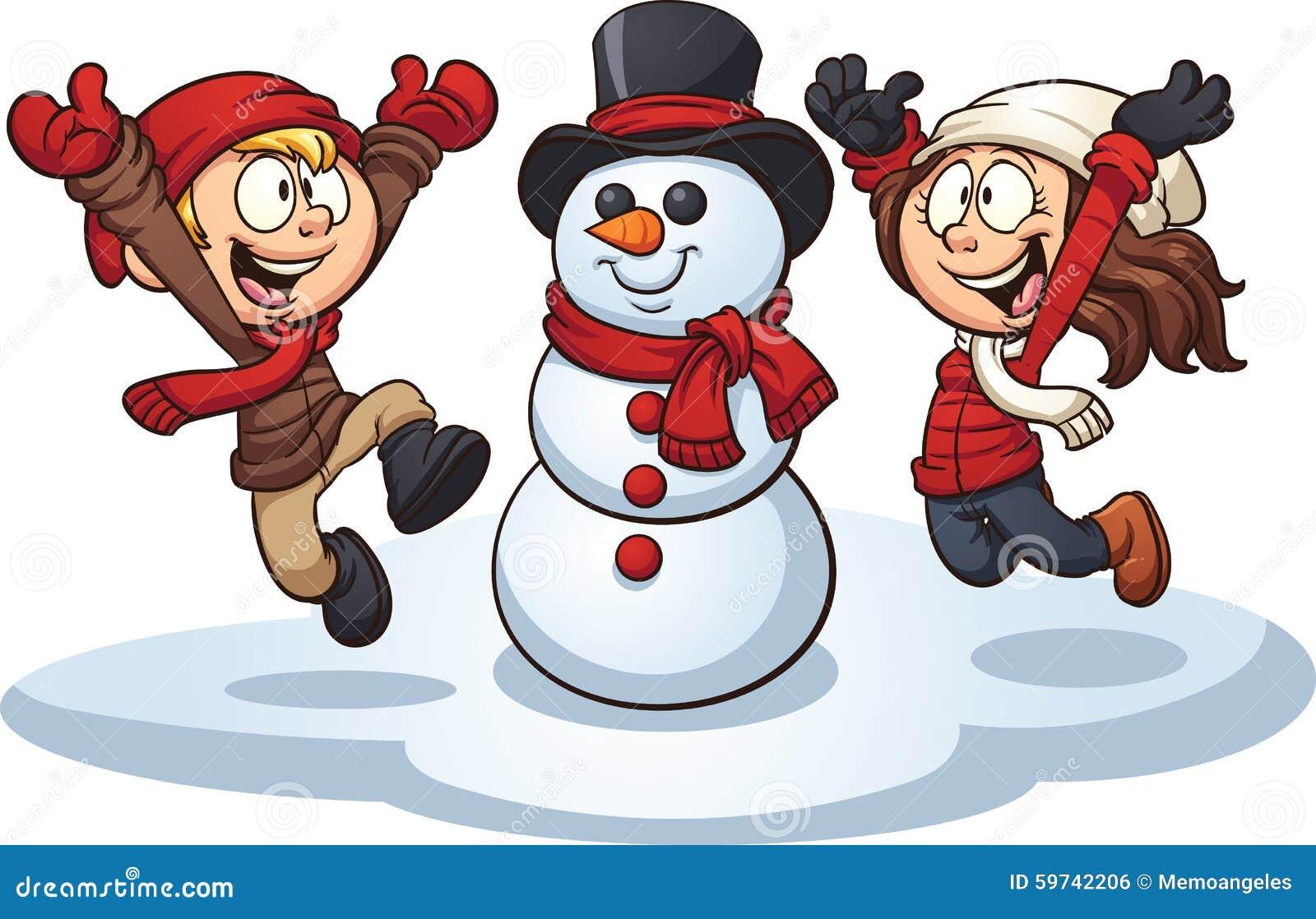 winter kids stock vector illustration of happy illustration 59742206 rh dreamstime com clip art winter party clip art winter party