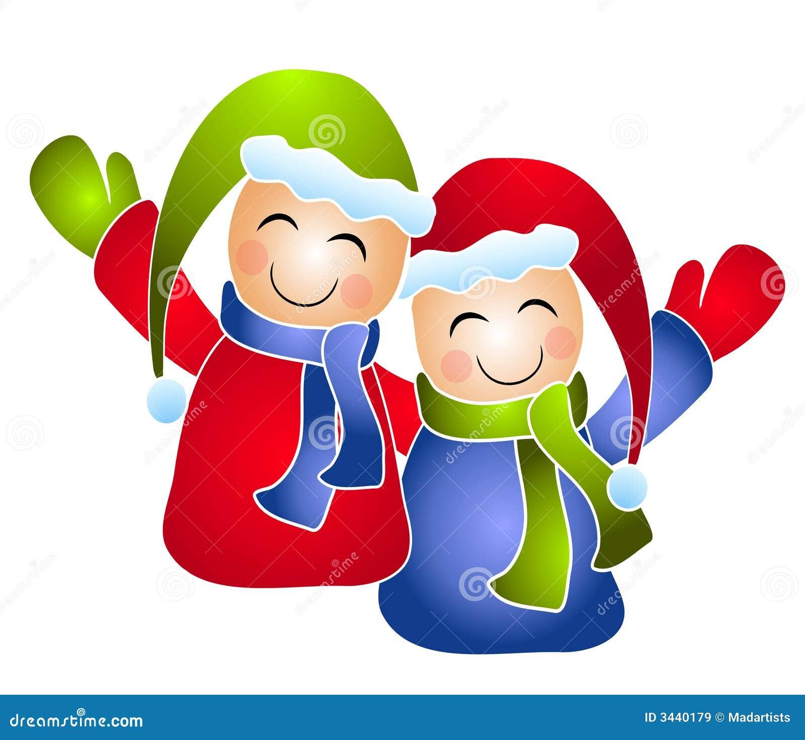 Winter Kids Children Clip Art   Pre-Designed Photoshop Graphics ~ Creative  Market